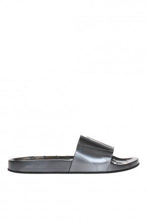 'rey' embossed sliders od Jimmy Choo